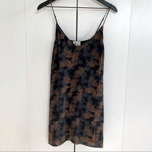 Aritzia Wilfred Free Vivienne Dress Black Palm XS